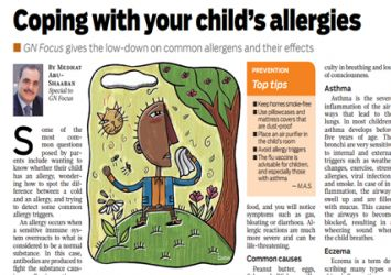 Coping with your child's allergies